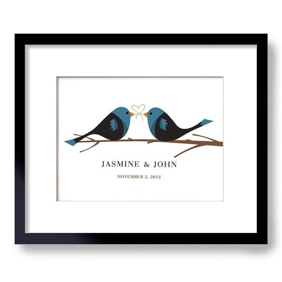 bird wedding theme print | via wedding prints personalized by theme