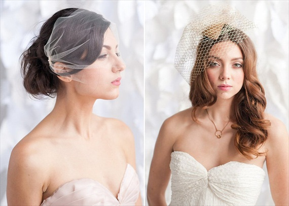 How to Wear a Birdcage Veil (veils by tessa kim, photo by candice benjamin)