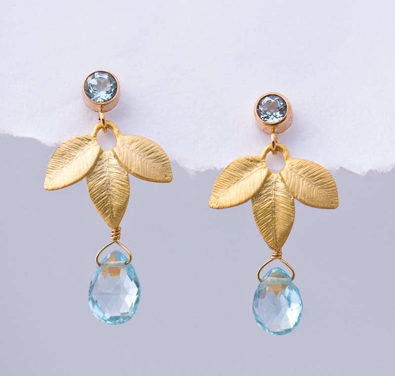 birthstone earrings | birthstone jewelry gifts | https://emmalinebride.com/gifts/birthstone-jewelry-gifts/