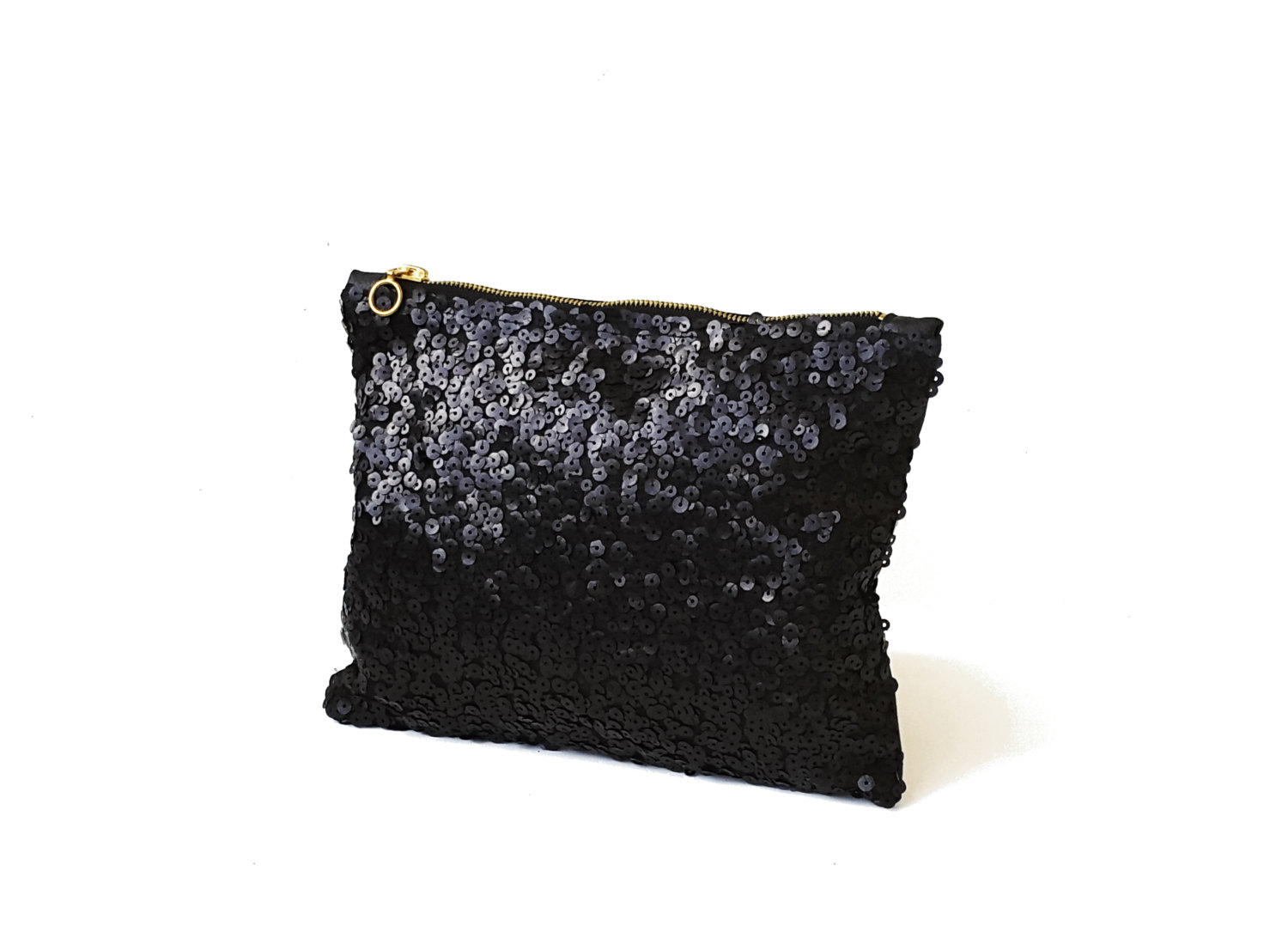 black sequin clutch by razolly
