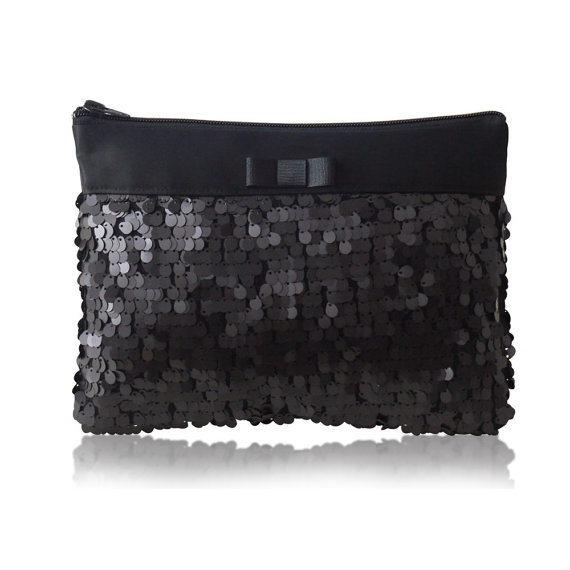 black sequin purse - wedding party bags