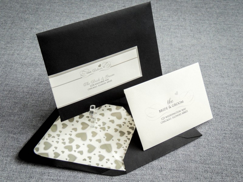 Black and White Wedding Invites