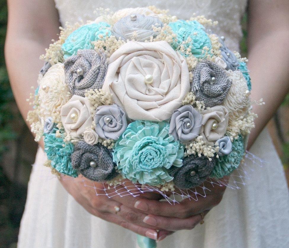 blue ivory bouquet