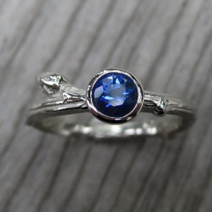 blue sapphire handmade engagement rings