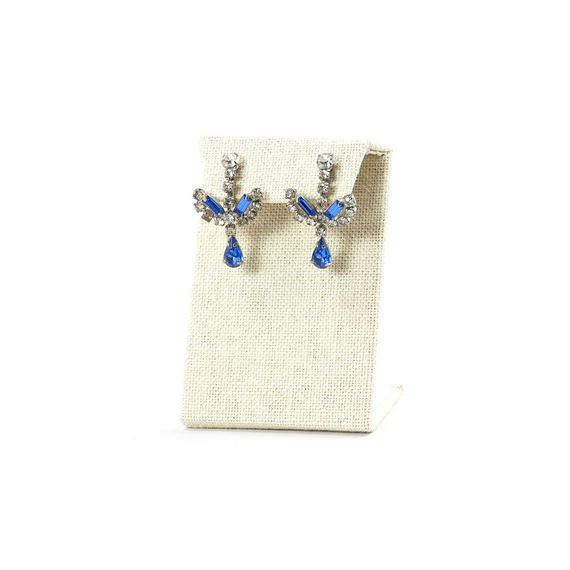 blue vintage earrings - Curated Vintage Jewelry
