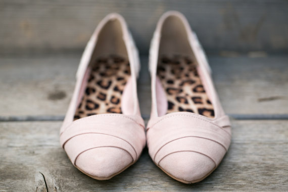 blush flats by Walkin On Air   via 5 Tips to Make Wedding Flats Absolutely Easy to Wear http://emmalinebride.com/bride/tips-flats-wedding/