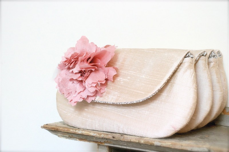 blush pink clutches