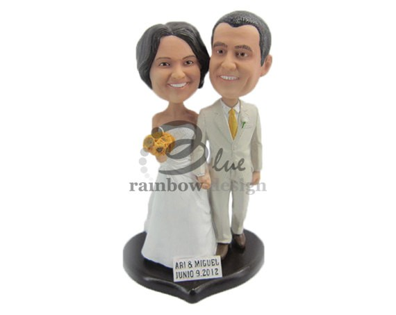 bobblehead for wedding cake topper