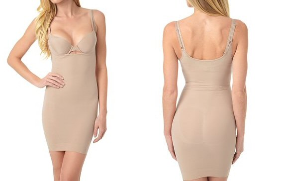 body shapewear nude dress style via What to Wear Under the Dress