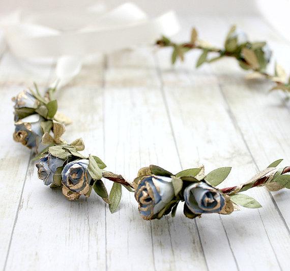 Bohemian Wedding Ideas (hair crown: roses and lemons)