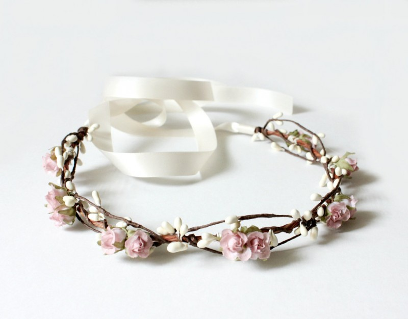 light pink - spring wedding crowns | via http://emmalinebride.com/bride/spring-wedding-crowns/