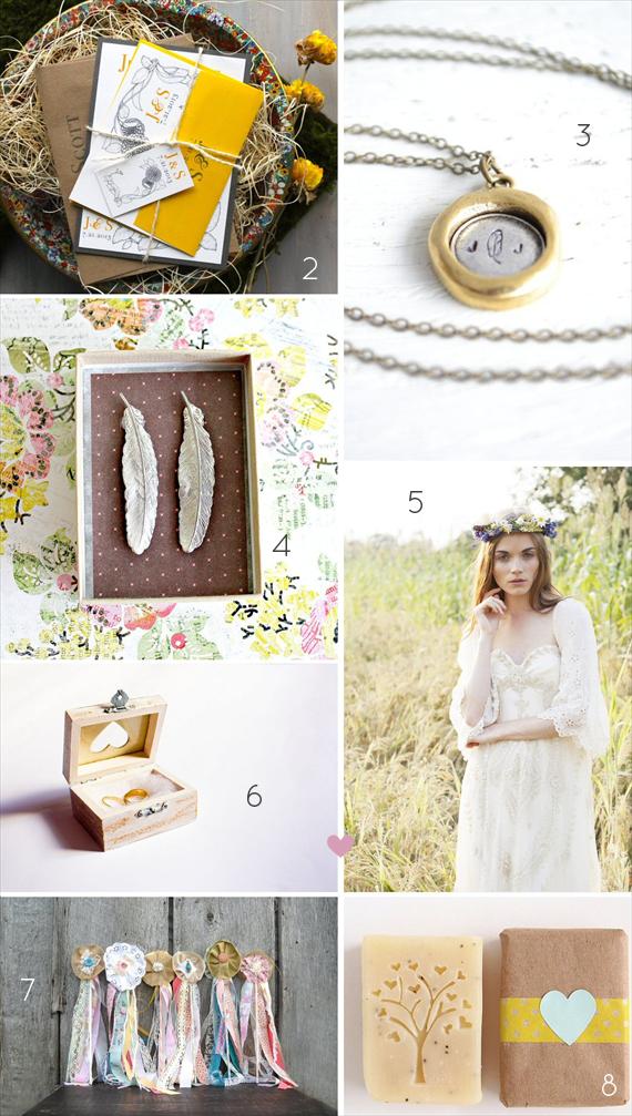 21 Stylish Bohemian Wedding Ideas (via EmmalineBride.com)