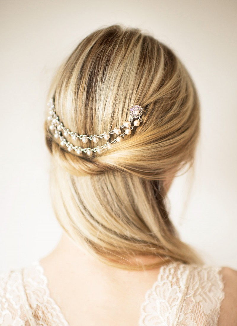 boho hair chain | bridal hair chain | via https://emmalinebride.com/bride/bridal-hair-chain/