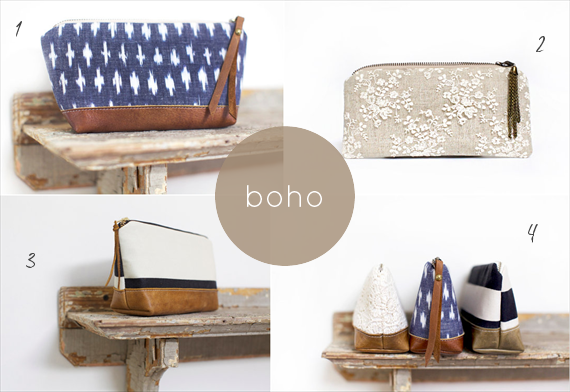 boho wedding clutches by theme