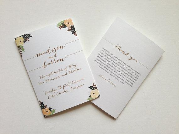 booklet ceremony program