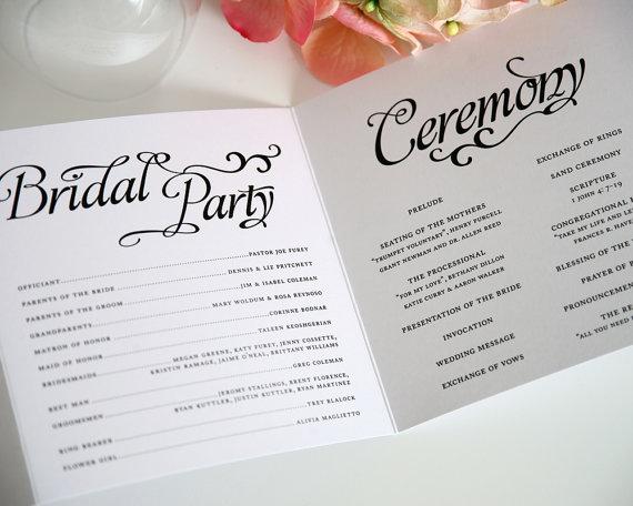 booklet wedding ceremony program - paper goods wedding
