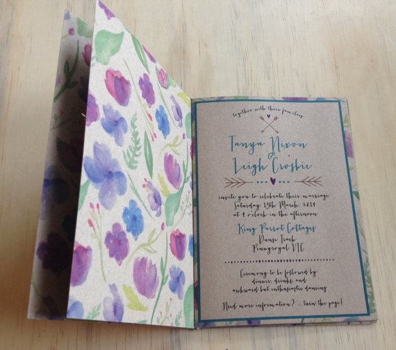 Booklet Wedding Invitation (by The Find Sac)