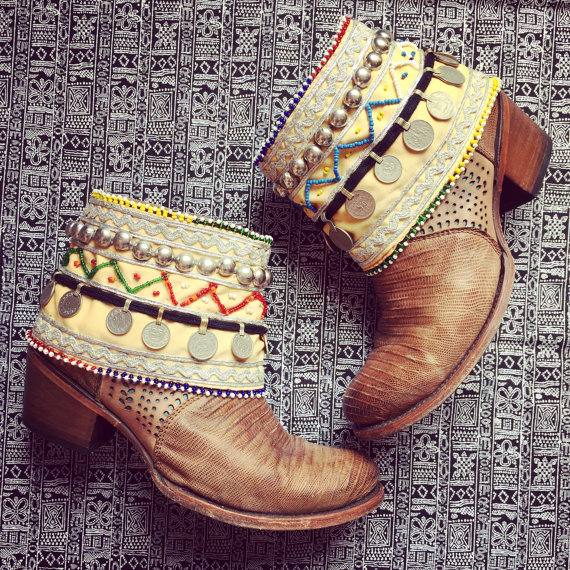 boot covers for boho wedding by spirit of a wildflower | etsy boho weddings | http://emmalinebride.com/bohemian/etsy-boho-weddings/