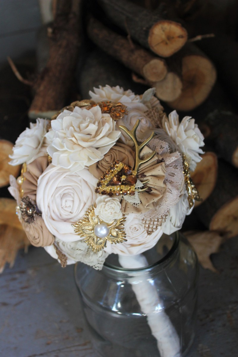 bouquet with antler