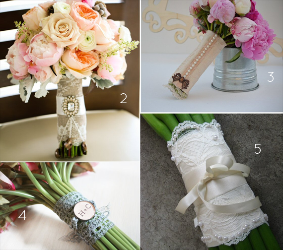 Bouquet Wrap Ideas (via Emmaline Bride)