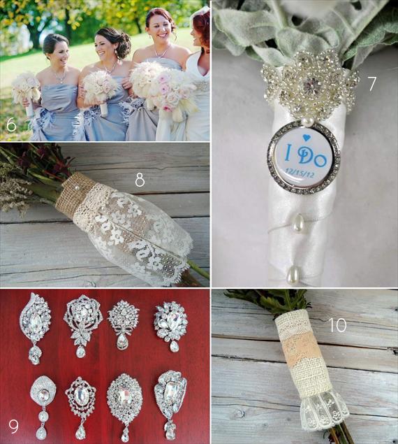 Bouquet Wrap Ideas (via Emmaline Bride)