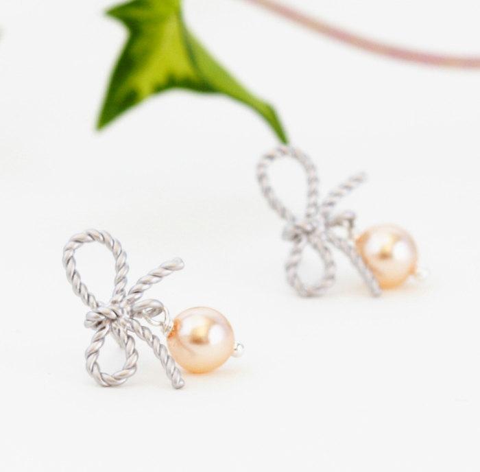 bow earrings bridesmaids