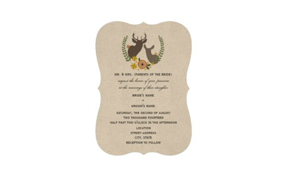 bracket wedding invitation via uniquely shaped wedding invitations