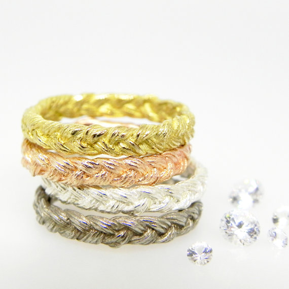 braided infinity wedding band via 7 Alternative Wedding Ring Ideas