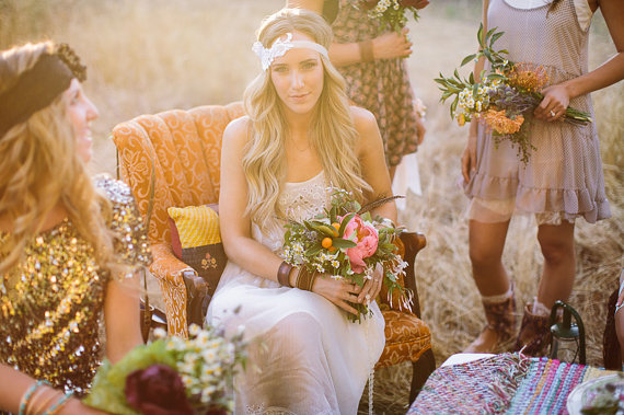Wedding Halo Headbands & Crowns (headband: three bird nest)