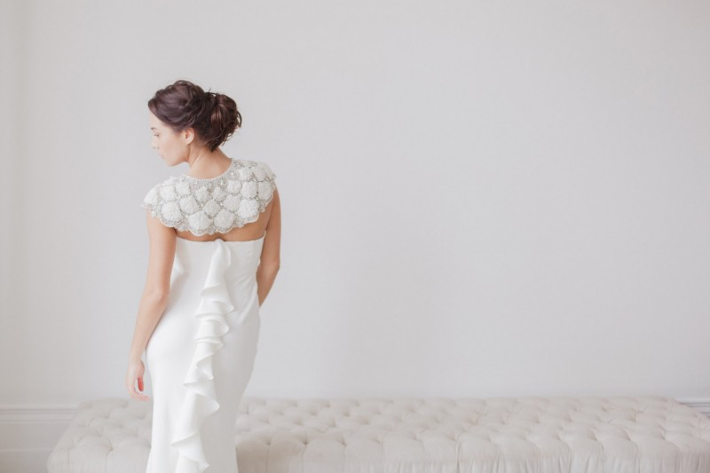 A gorgeous bridal bolero / wrap | http://emmalinebride.com/bride/wedding-cover-ups/
