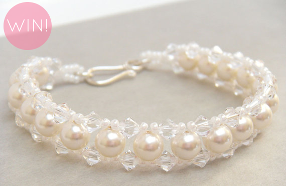 Pearl Bridal Bracelet (by Merry Alchemy Bridal)