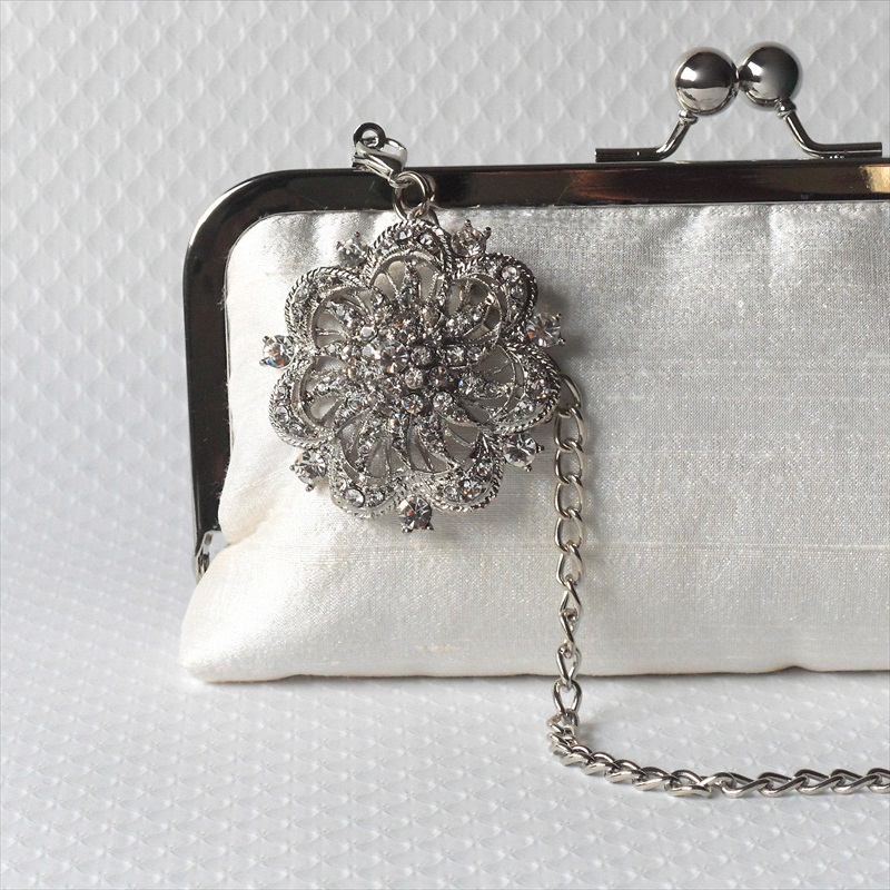 bridal clutch purse inner lining