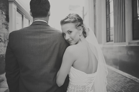 Wear a Veil or Not (via EmmalineBride.com) - bride with veil photo by maria mack photography