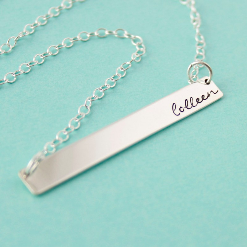 bridesmaid bar necklace