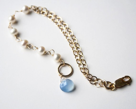bridesmaid gemstone bracelet