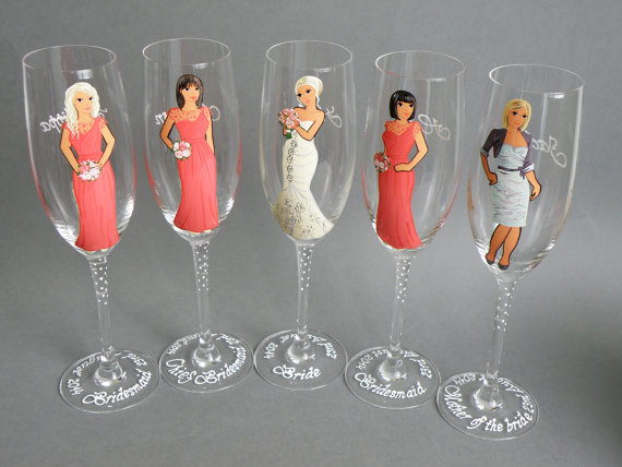 personalized glassware gifts | https://emmalinebride.com/bridesmaids/personalized-glassware-gifts/