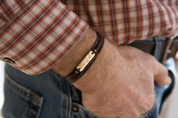 bronze leather bracelet via 27 Amazing Anniversary Gifts by Year http://emmalinebride.com/gifts/anniversary-gifts-by-year/