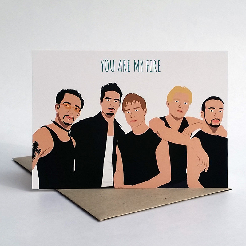 bsb you are my fire - via funny valentine cards etsy from EmmalineBride.com