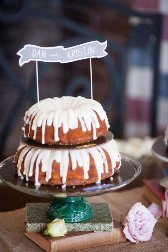 Naked Wedding Cakes | For a whimsical wedding, try bundt cakes instead of regular cake.