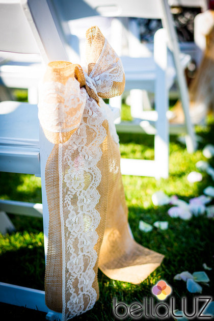 burlap and lace aisle decor | 50 Best Burlap Wedding Ideas | via http://emmalinebride.com/decor/burlap-wedding-ideas/