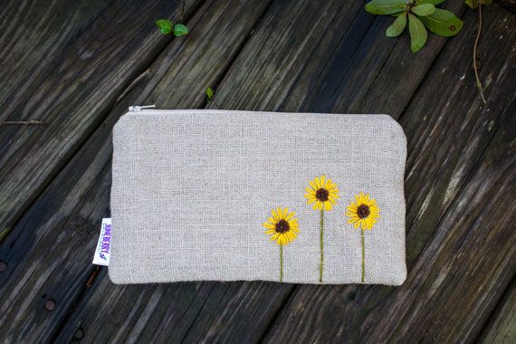 burlap clutch by juneberry stitches