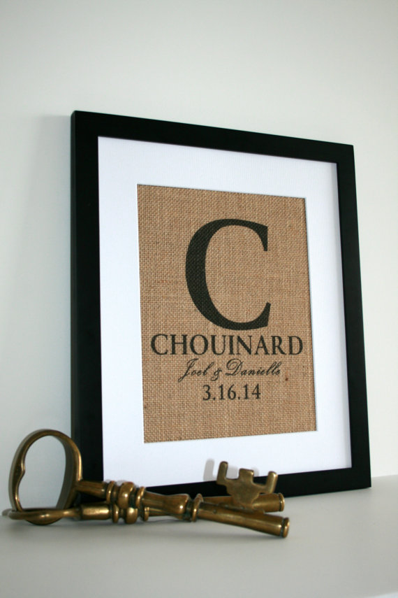 burlap wedding print