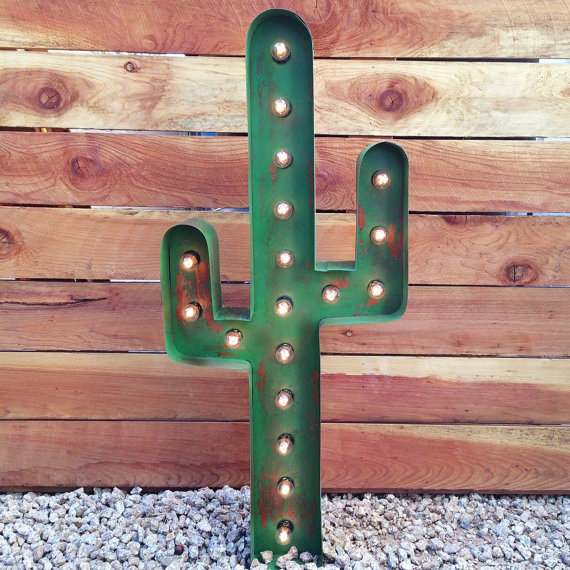 cactus marquee light by sawandsteel