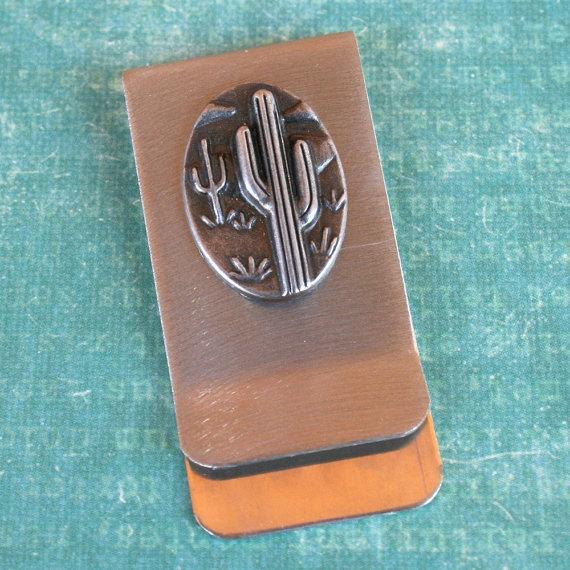 cactus money clip by dabbledesigns