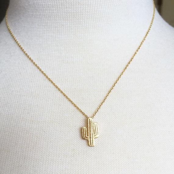 cactus necklace by hauteself