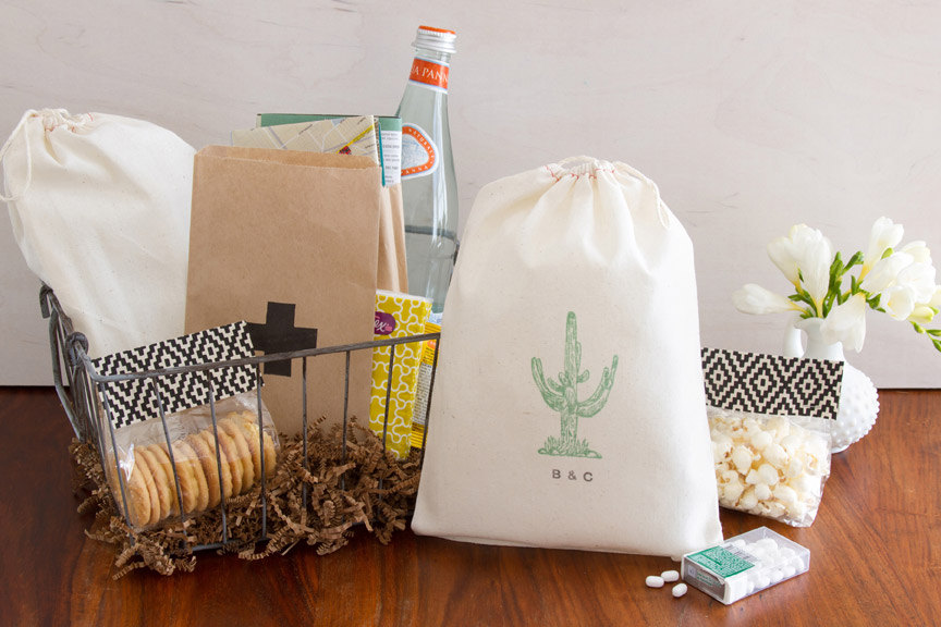 cactus wedding favor bags by becollective