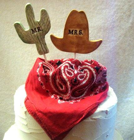 cactus weddings cake topper by thebrickkiln