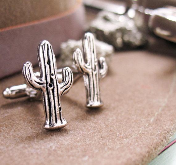 cactus weddings cufflinks by perfectcufflinks