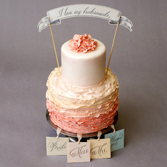 What Are Cake Charms? (Cake Charm by Weddings, Etc. via EmmalineBride.com) #handmade #wedding