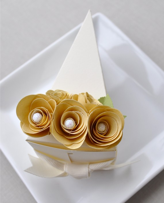 Cake Slice Boxes (by Imeon Design via EmmalineBride.com)